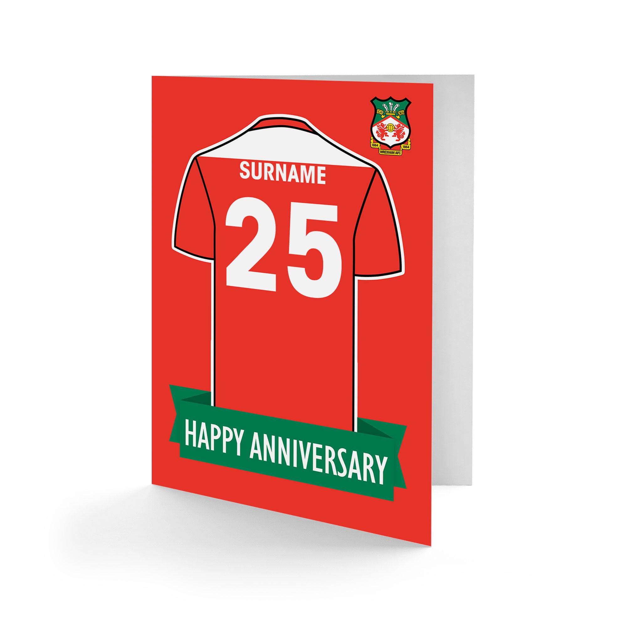 Wrexham AFC Shirt Anniversary Card