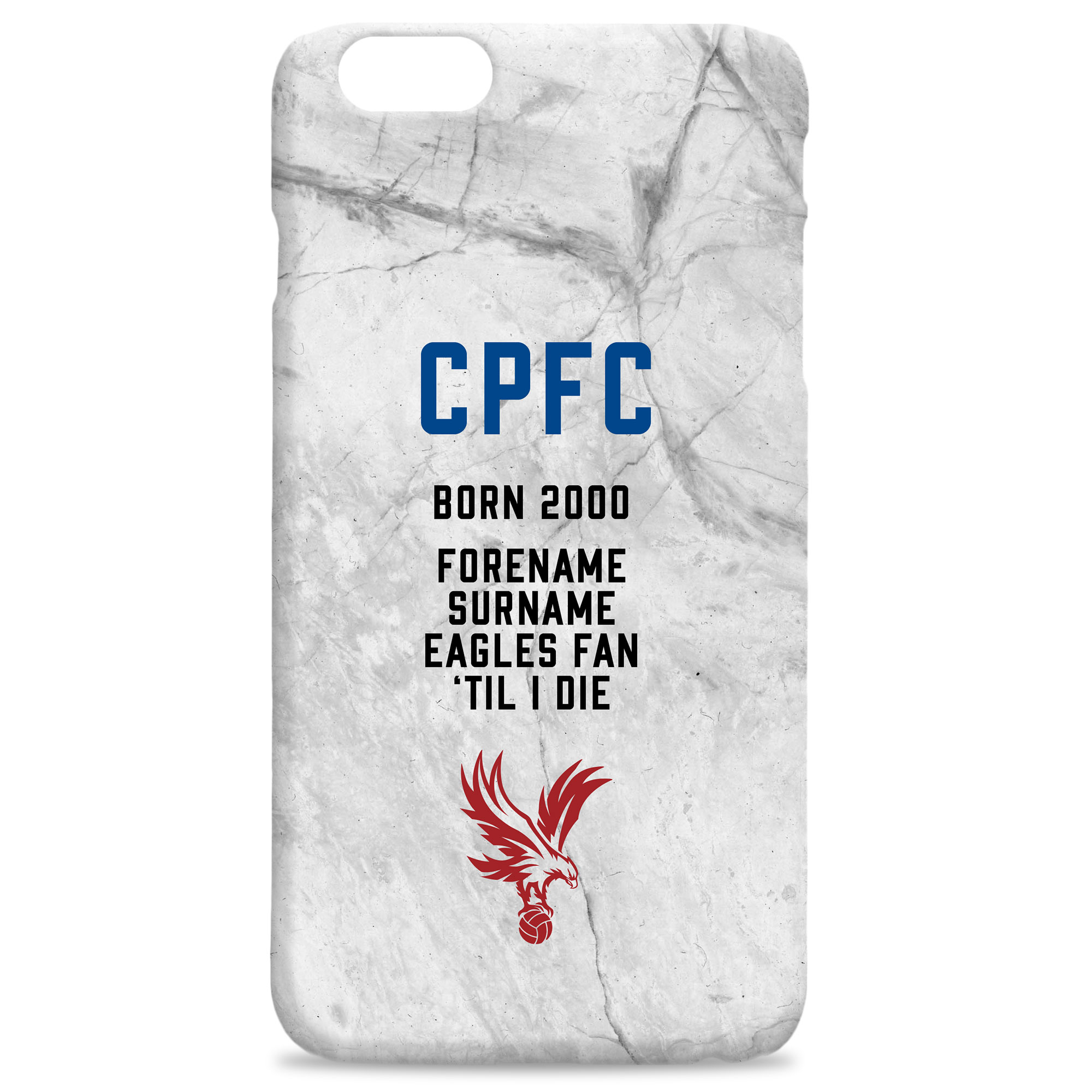 Crystal Palace FC 'Til I Die Hard Back Phone Case
