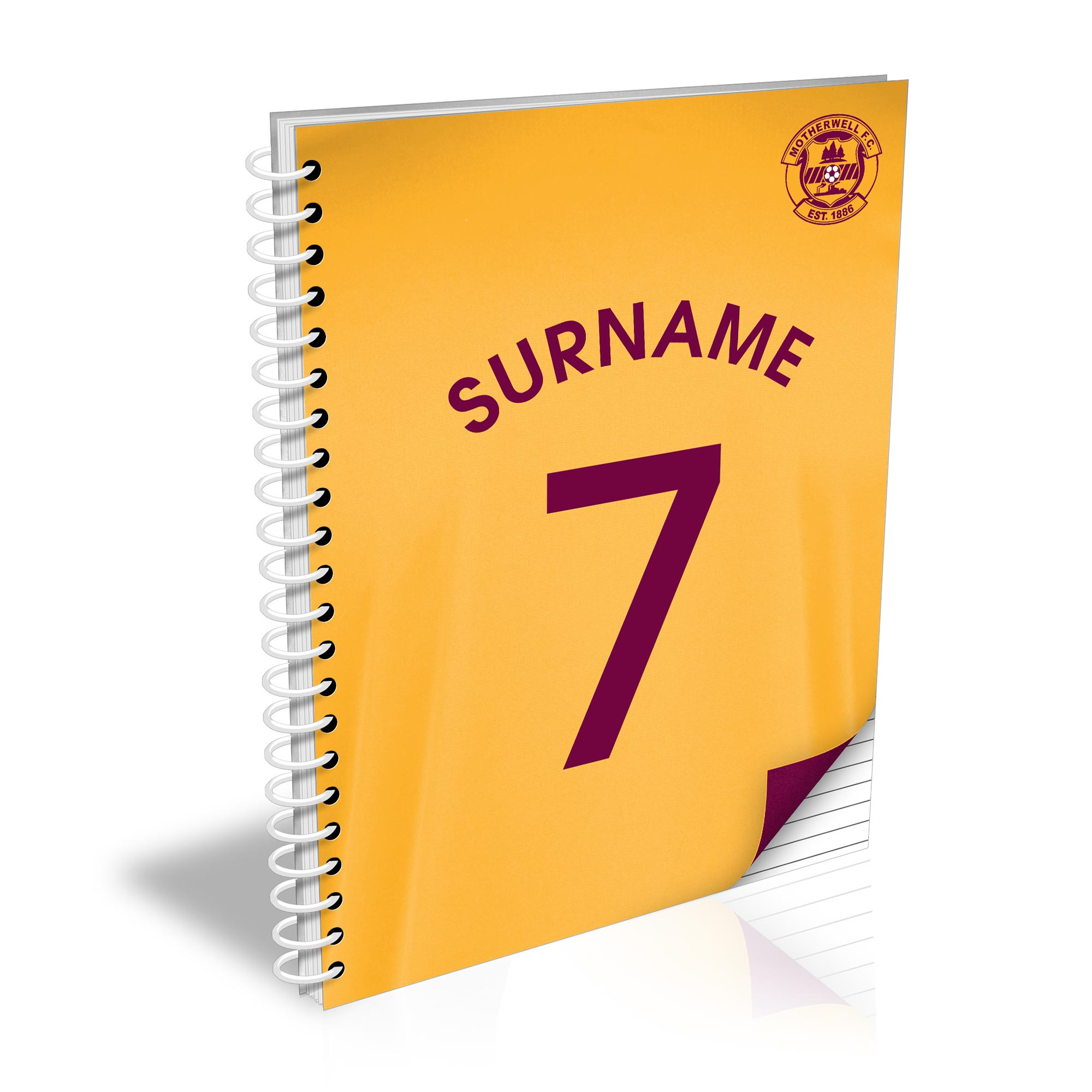 Motherwell FC Shirt Notebook