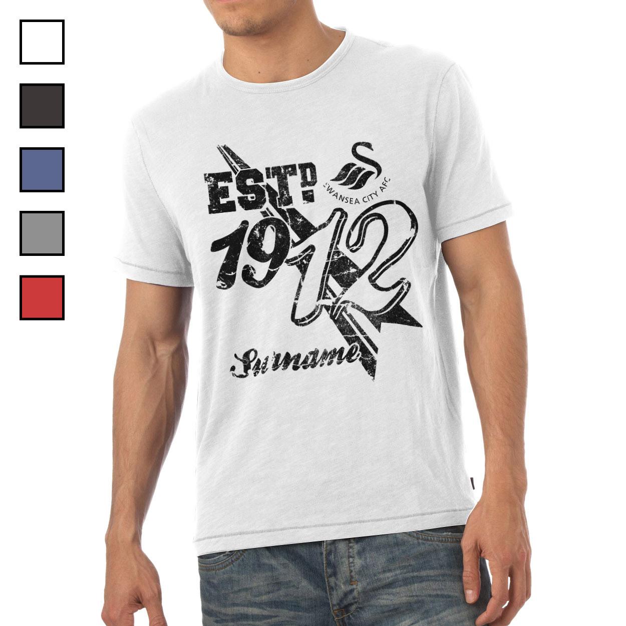 Swansea City AFC Mens Established T-Shirt