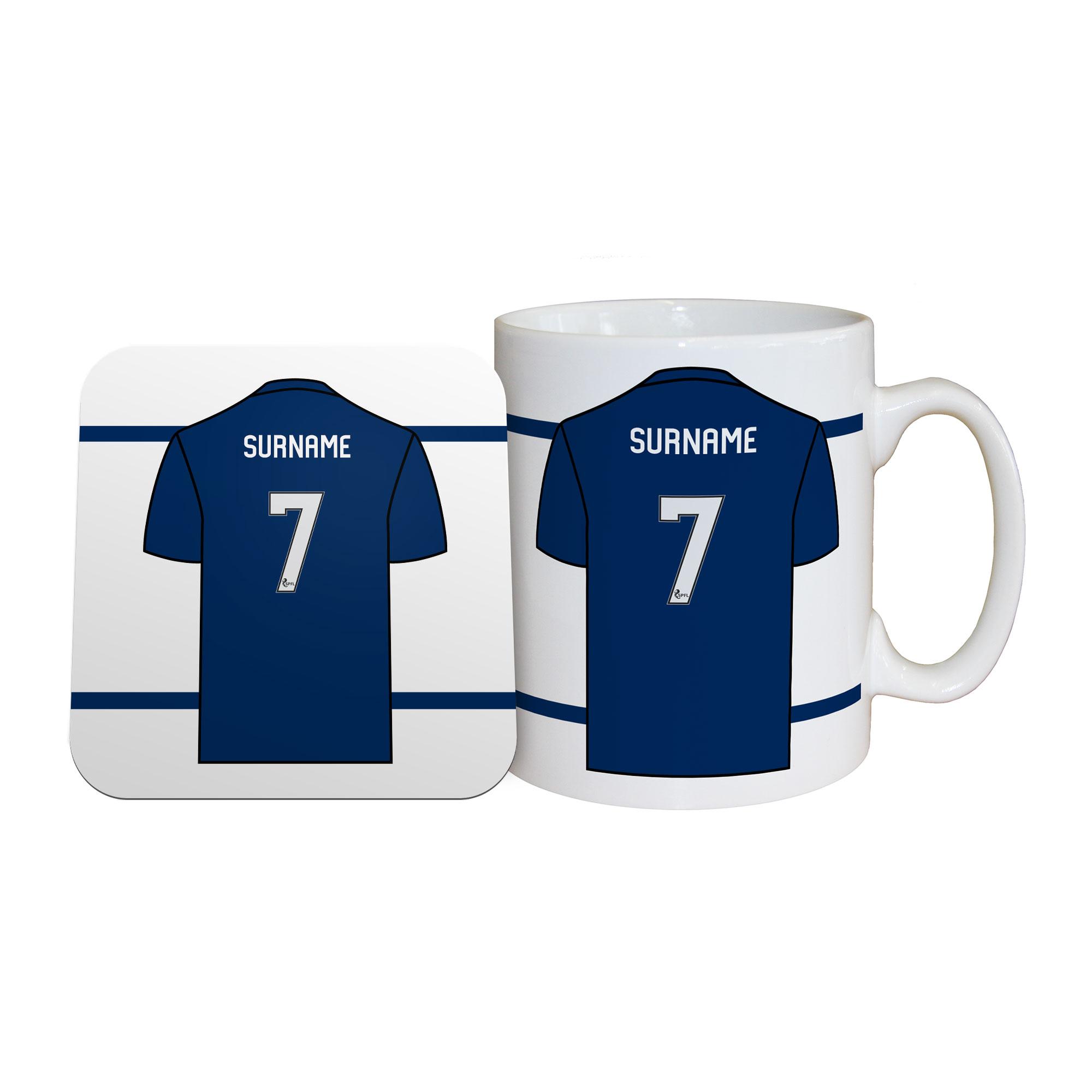 Dundee FC Shirt Mug & Coaster Set