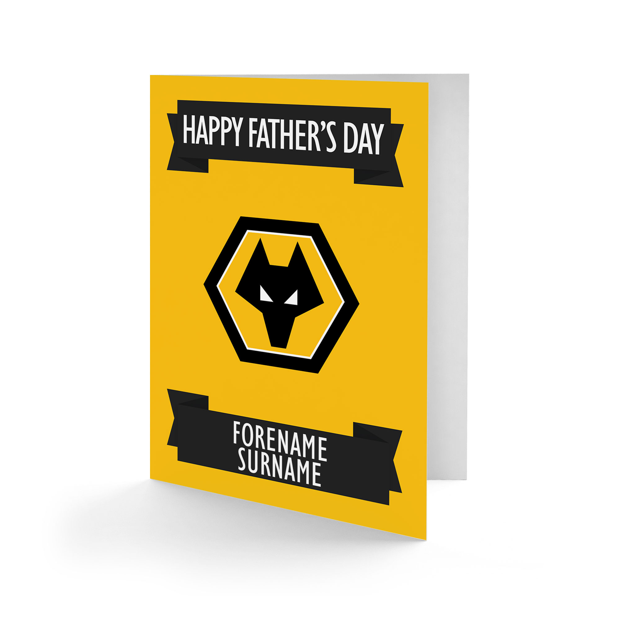 Wolves Crest Father's Day Card