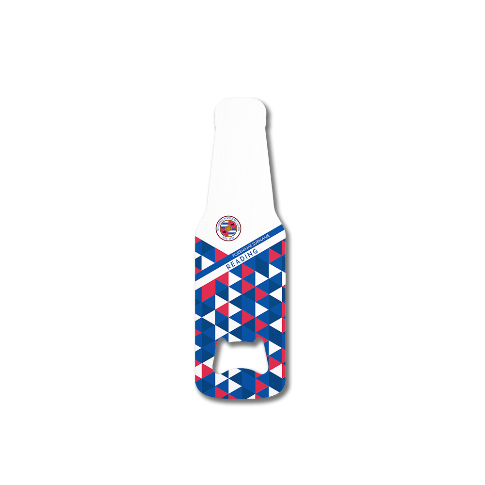 Reading FC Patterned Bottle Shaped Bottle Opener