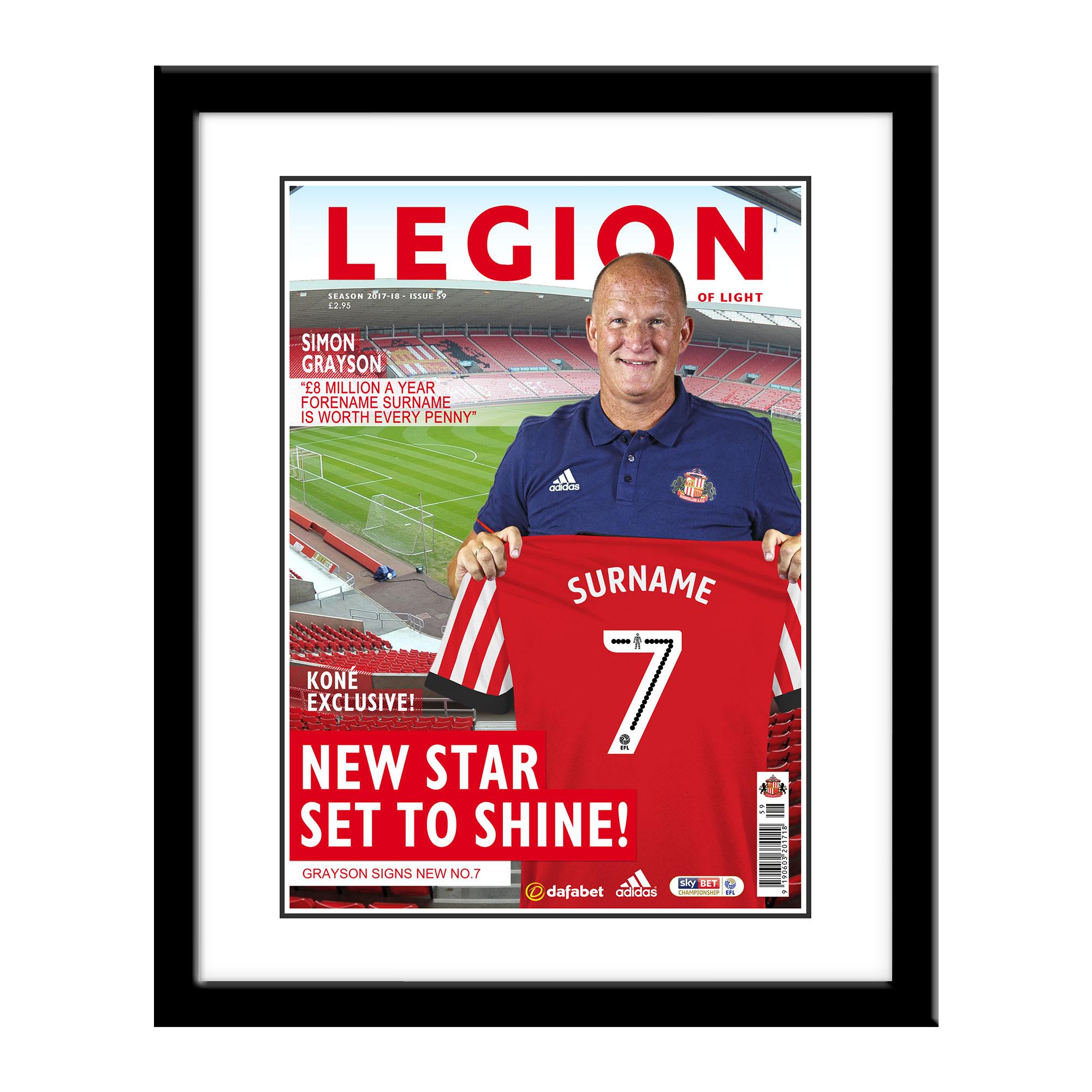 Sunderland AFC Magazine Front Cover Framed Print