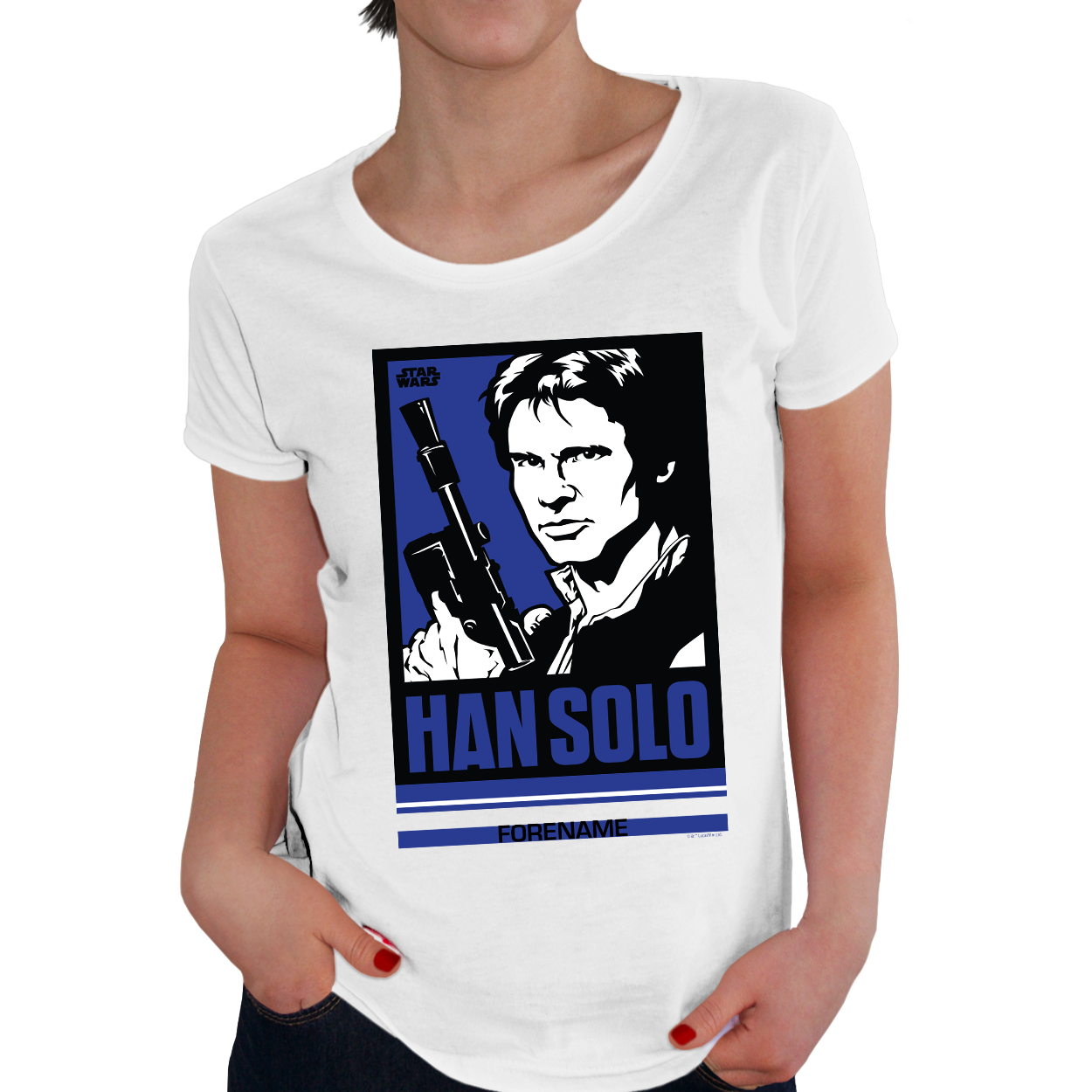Star Wars Han Solo Pop Art Womens T-shirt