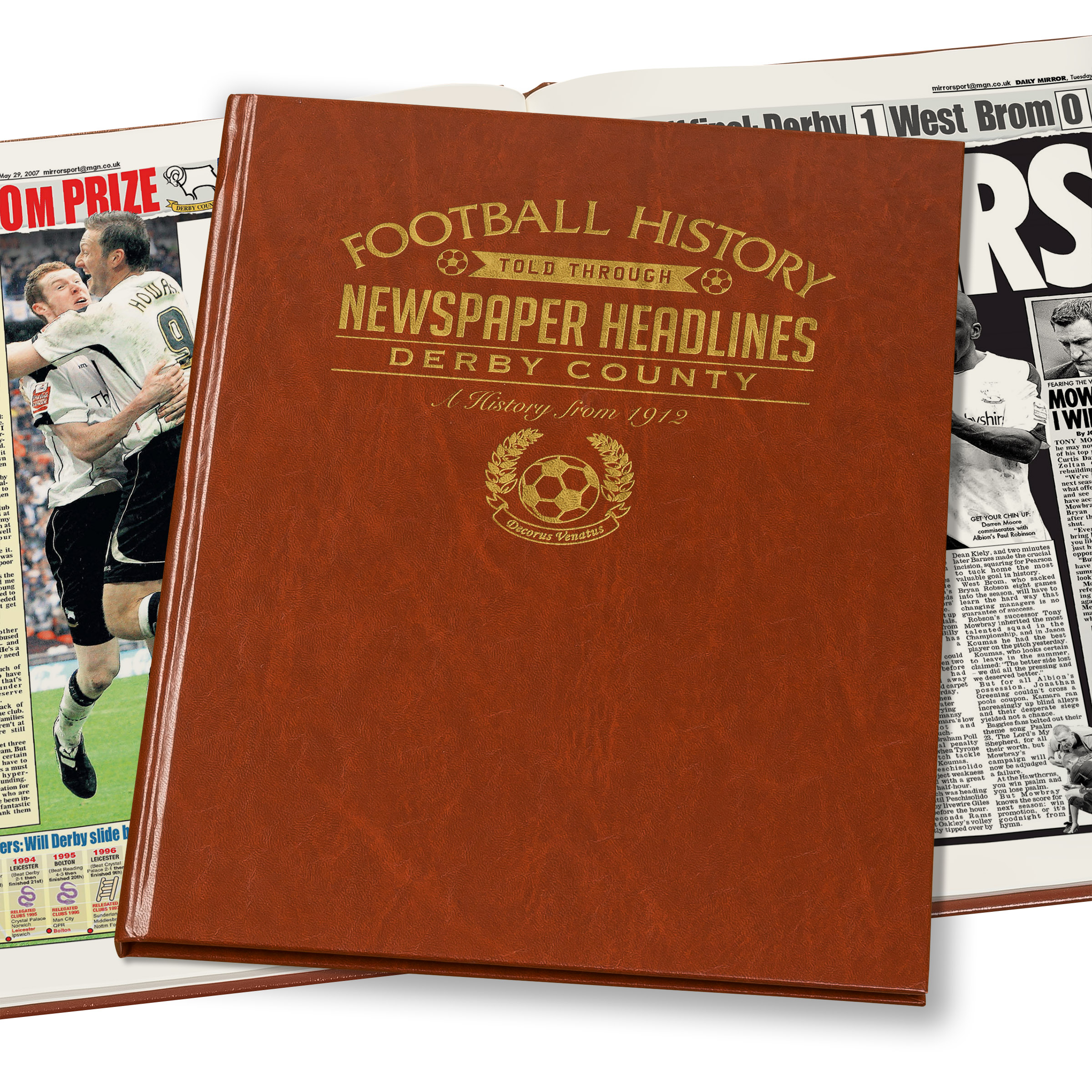 Derby County Football Newspaper Book (Colour Pages)