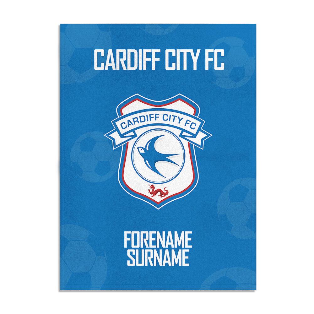 Cardiff City FC Crest Blanket (100cm X 75cm)
