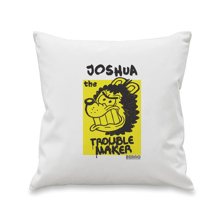 Beano Big Heads Gnasher Cushion Cover