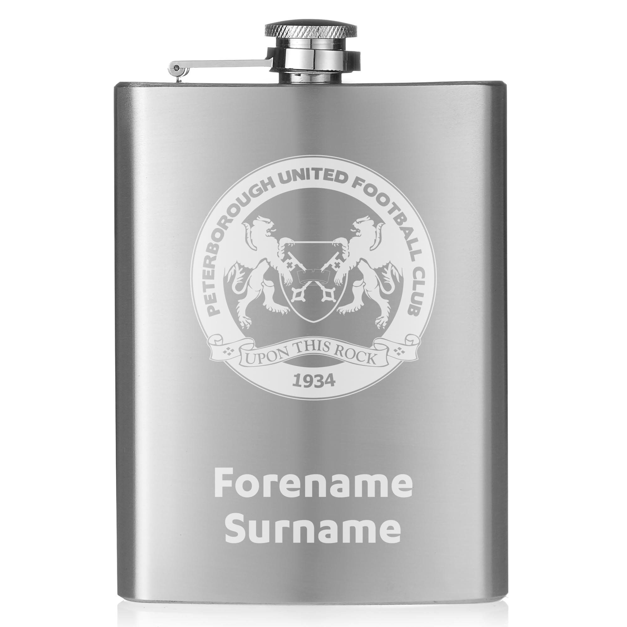 Peterborough United FC Crest Hip Flask
