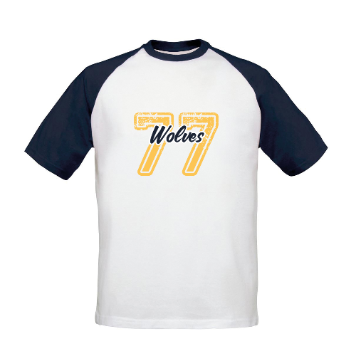 Wolves Varsity Number Baseball T-Shirt