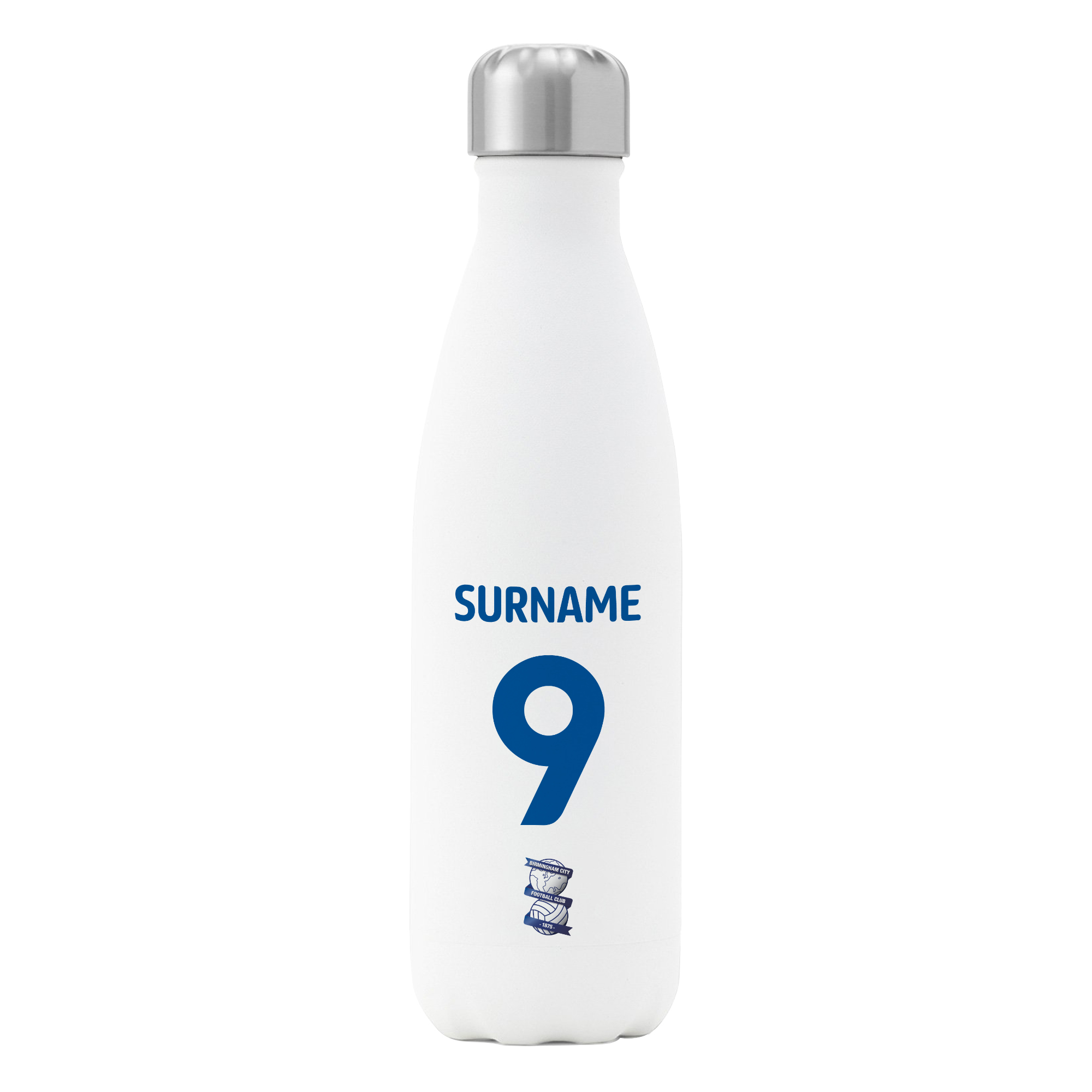 Birmingham City FC Back of Shirt Insulated Water Bottle - White
