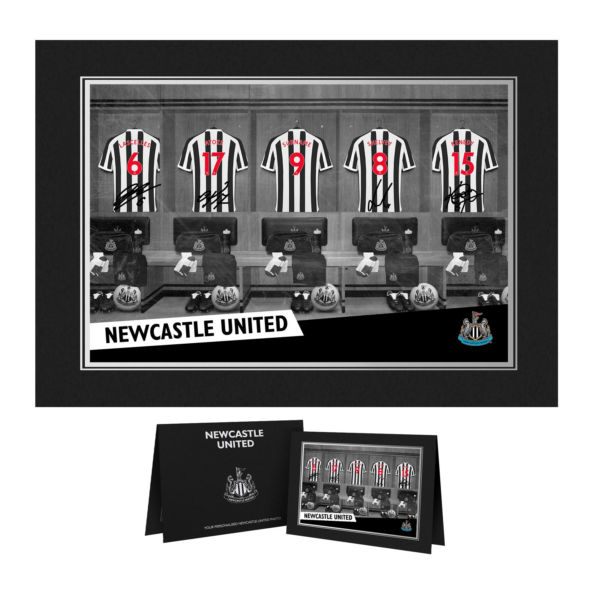 Newcastle United FC 9x6 Dressing Room Photo Folder
