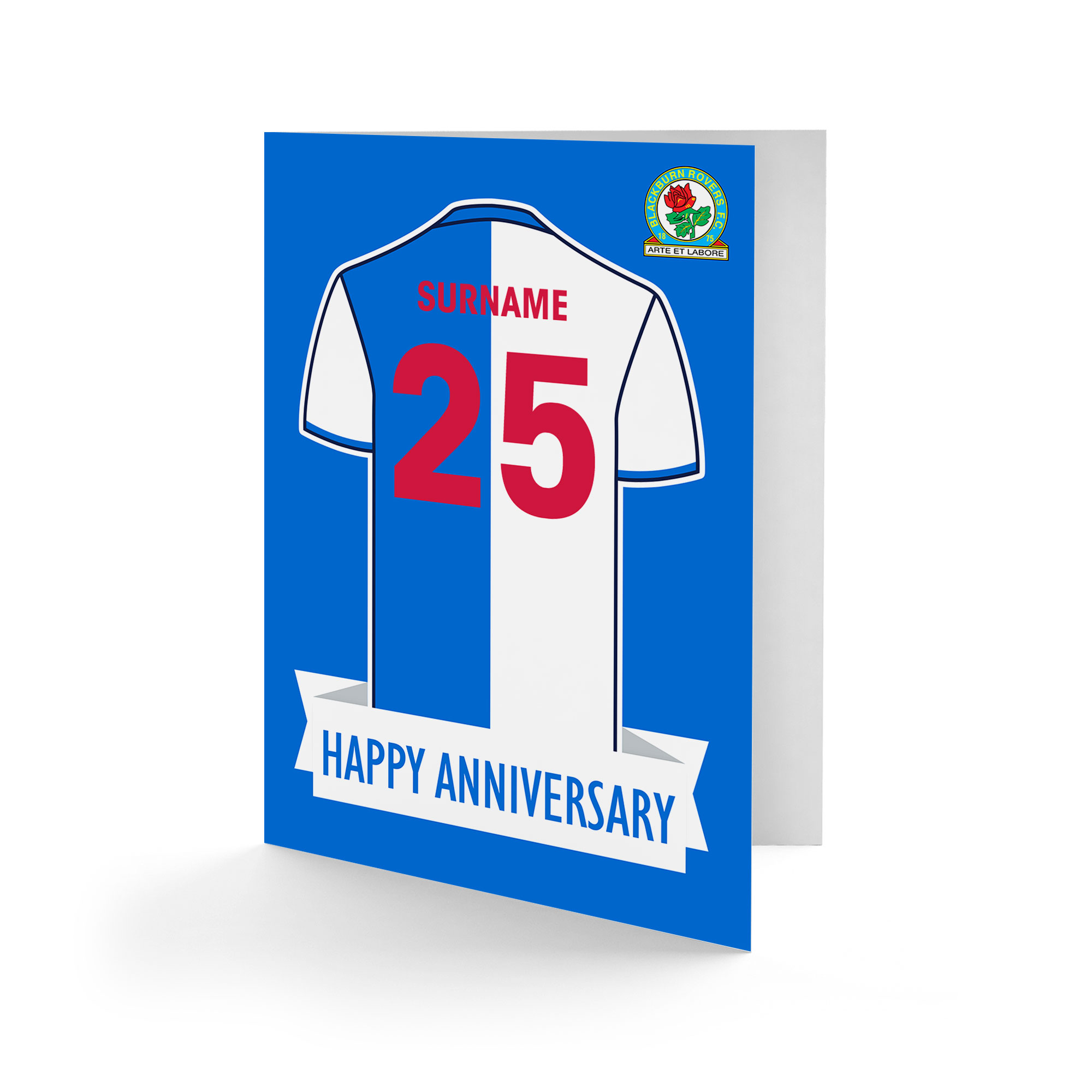 Blackburn Rovers FC Shirt Anniversary Card
