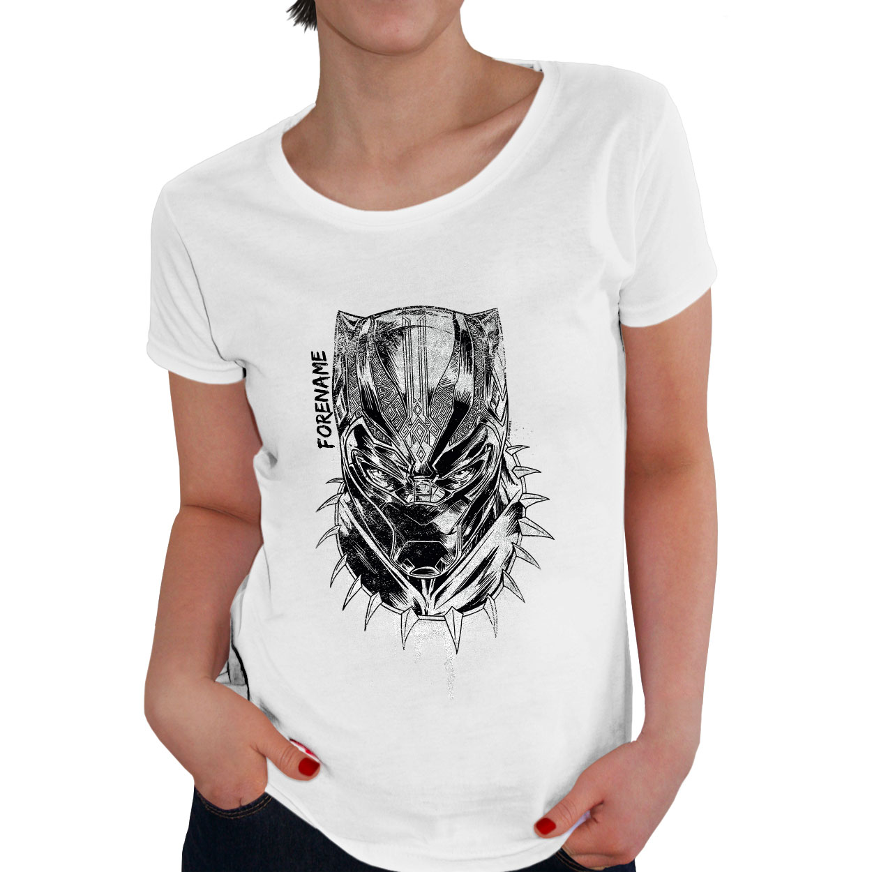 Marvel Black Panther Sketch Ladies T-Shirt