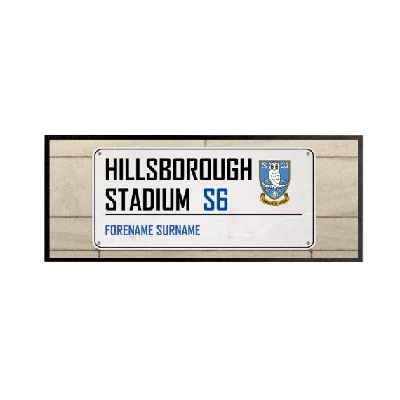 Sheffield Wednesday FC Street Sign Regular Bar Runner