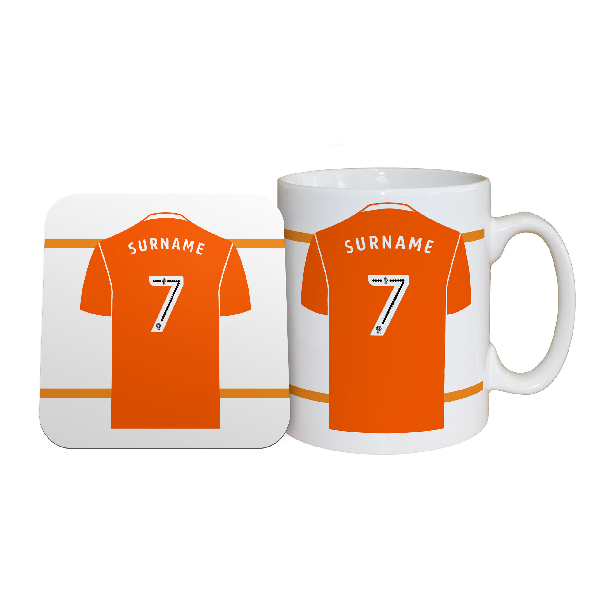 Blackpool FC Shirt Mug & Coaster Set