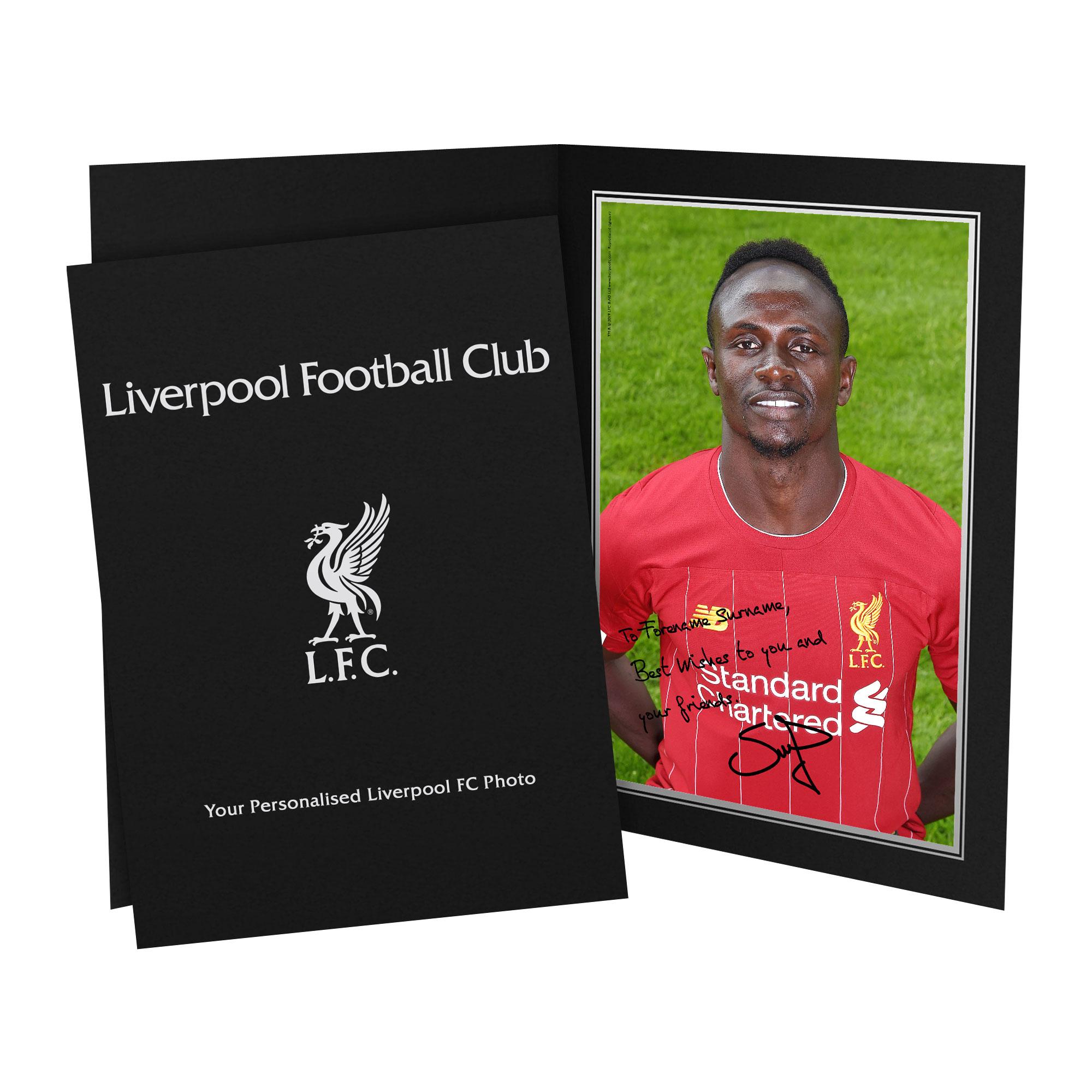 Liverpool FC Mané Autograph Photo Folder