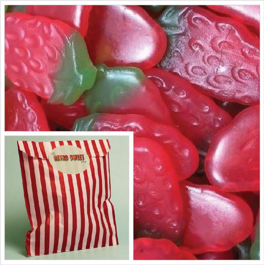 Giant Strawberries Sweet Bag