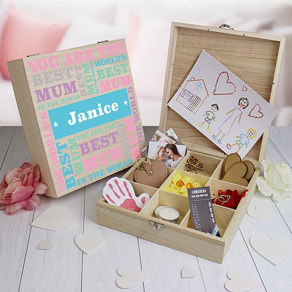 Best Mum - 9 Compartment Keepsake Box