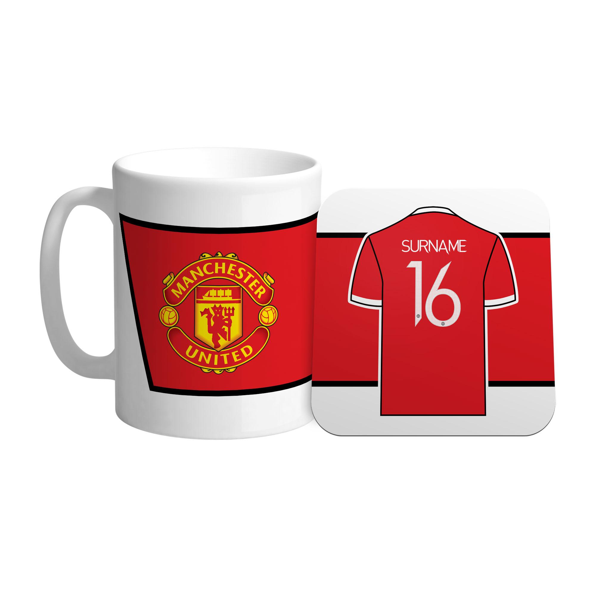Manchester United FC Shirt Mug & Coaster Set