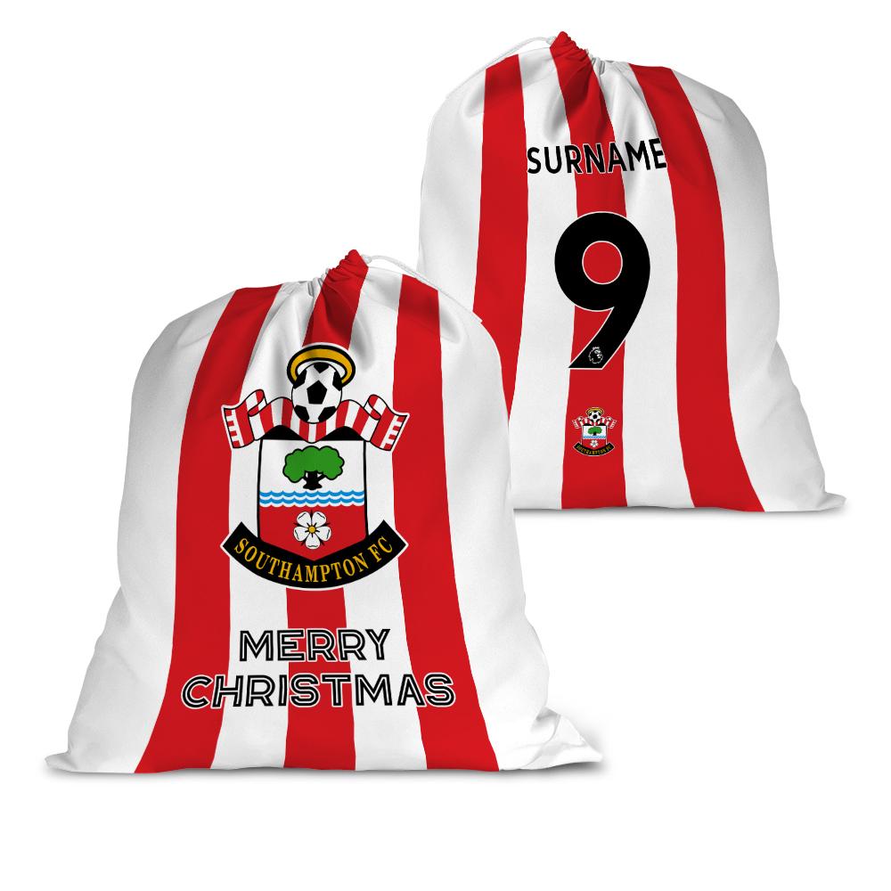 Southampton FC Back of Shirt Santa Sack
