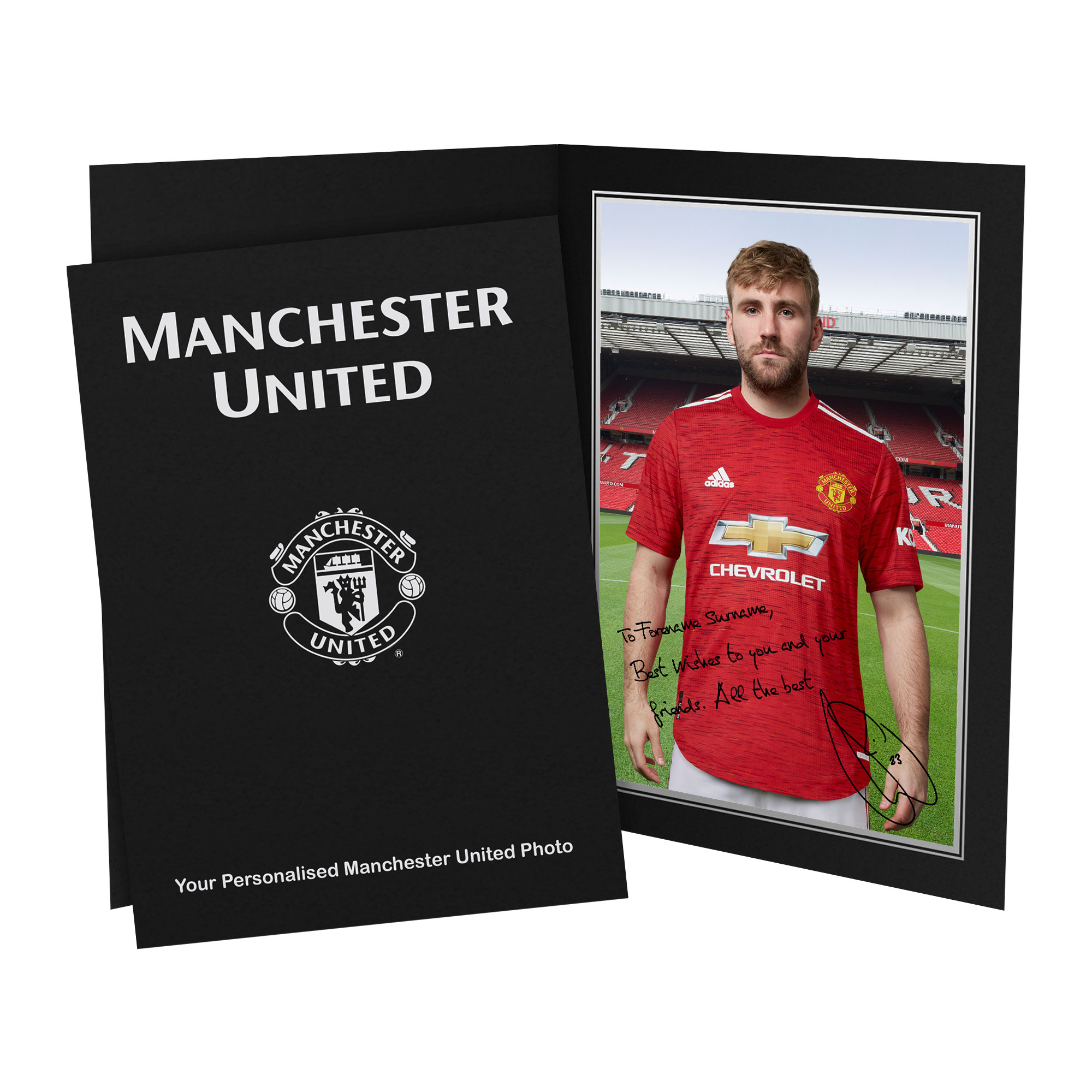 Manchester United FC Shaw Autograph Photo Folder