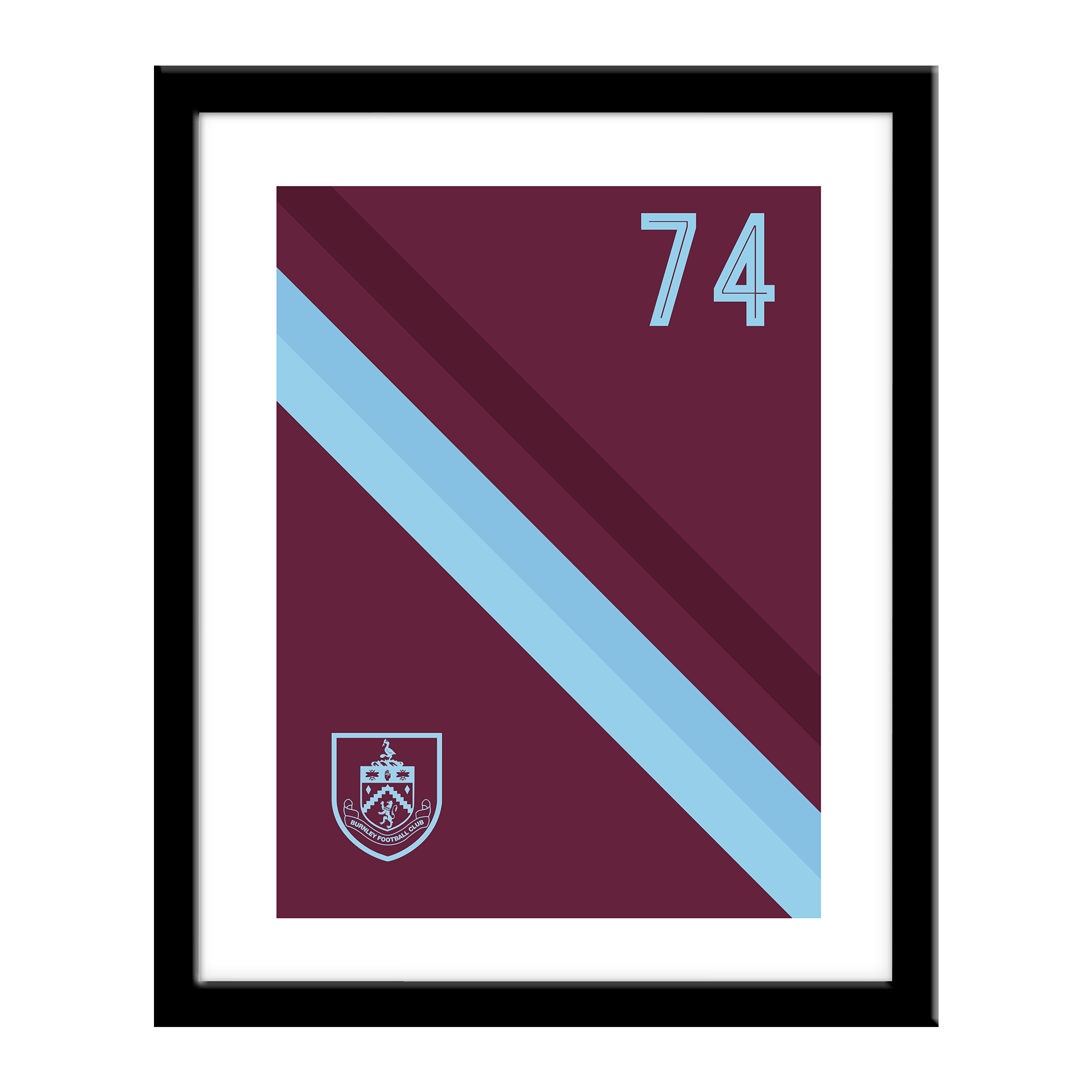 Burnley FC Stripe Print
