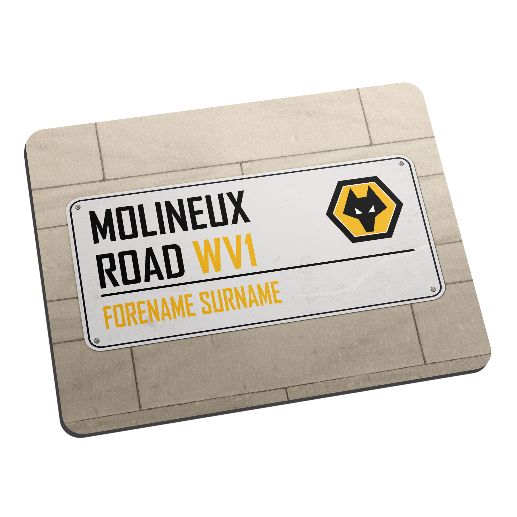 Wolves Street Sign Mouse Mat