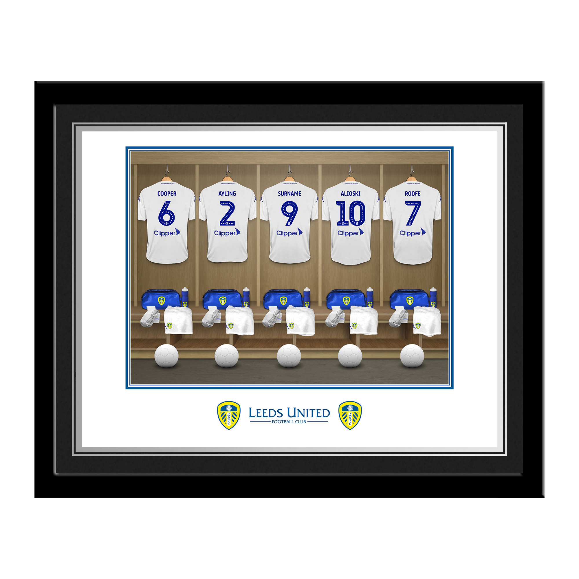 Leeds United FC Dressing Room Photo Framed