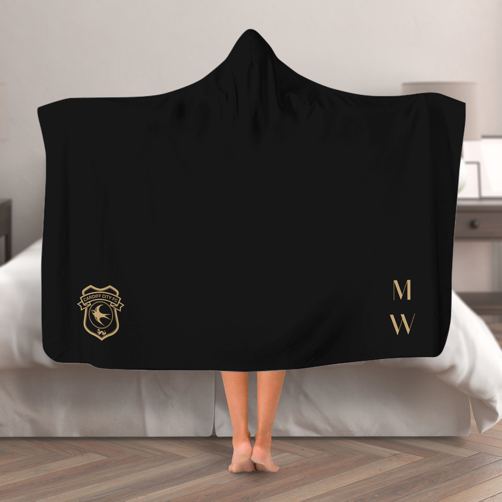 Cardiff City FC Initials Hooded Blanket (Adult)