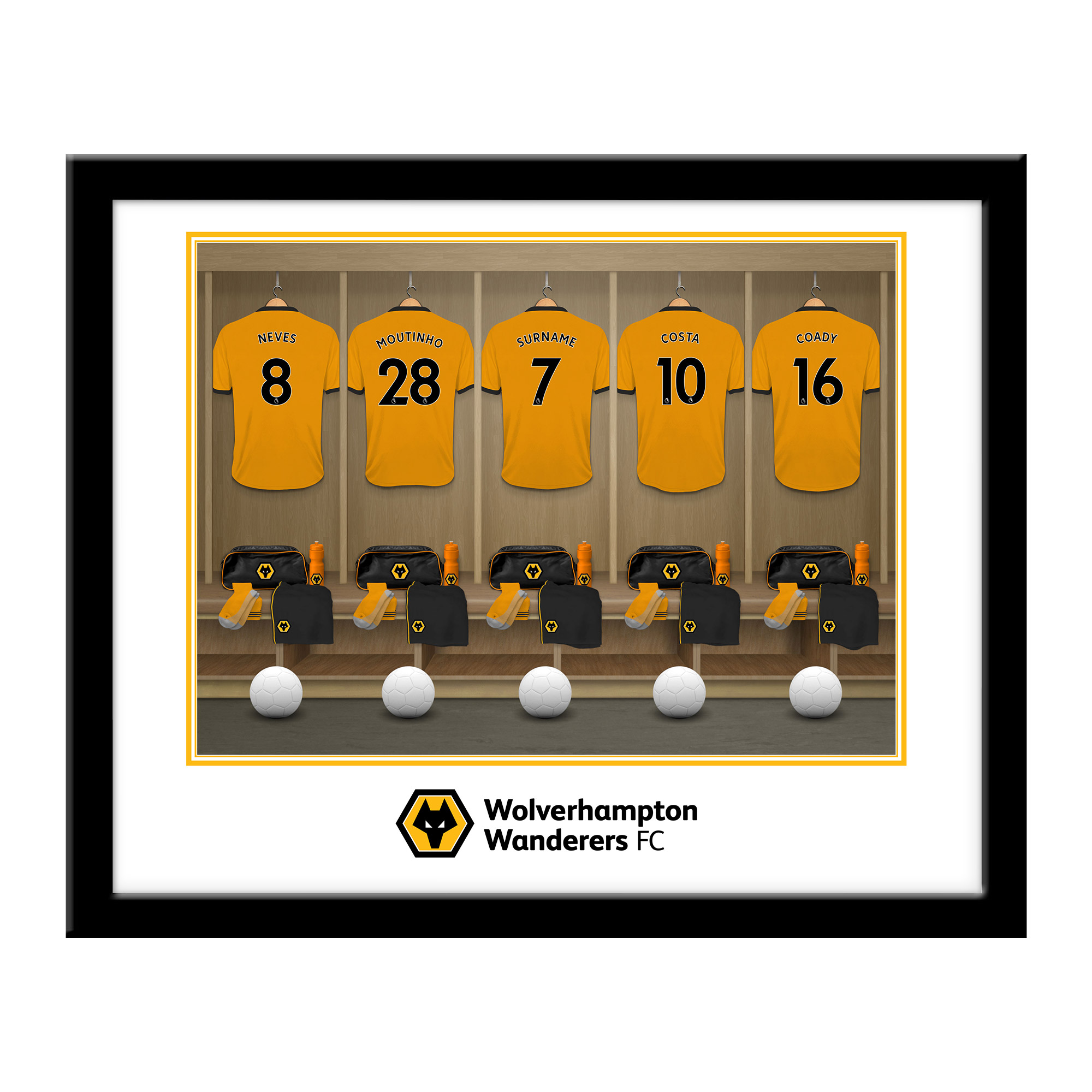 Wolves Dressing Room Framed Print