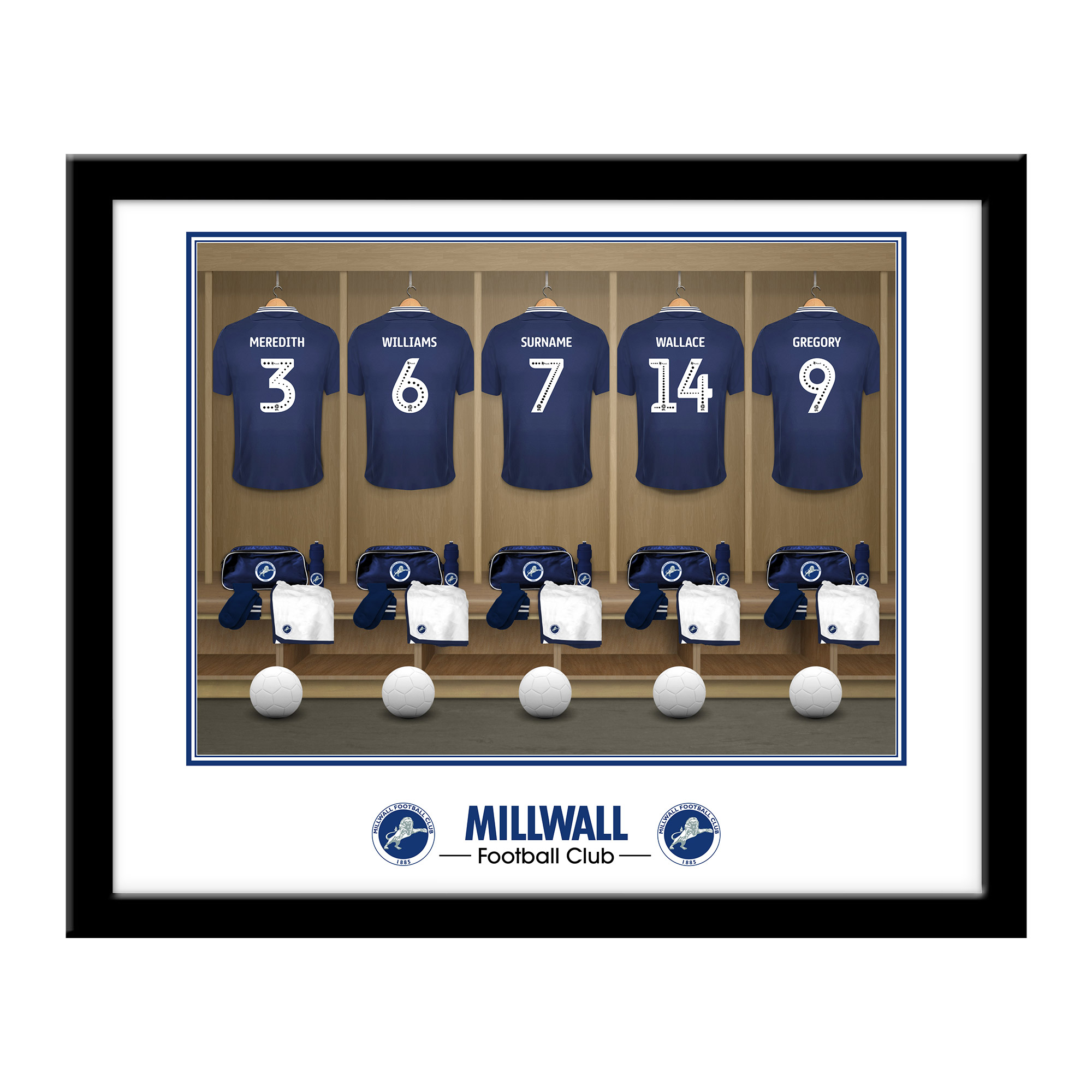 Millwall FC Dressing Room Framed Print
