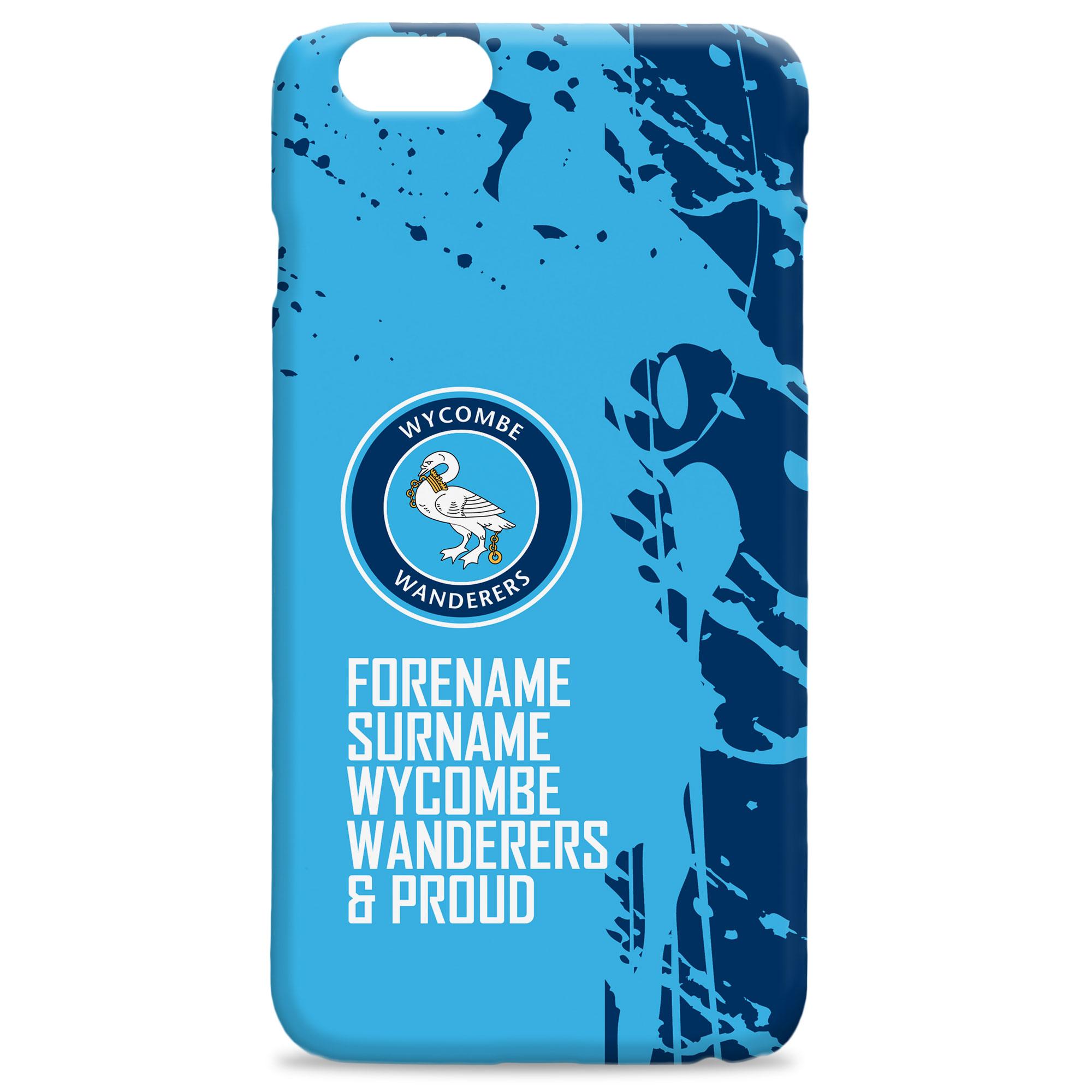 Wycombe Wanderers Proud Hard Back Phone Case