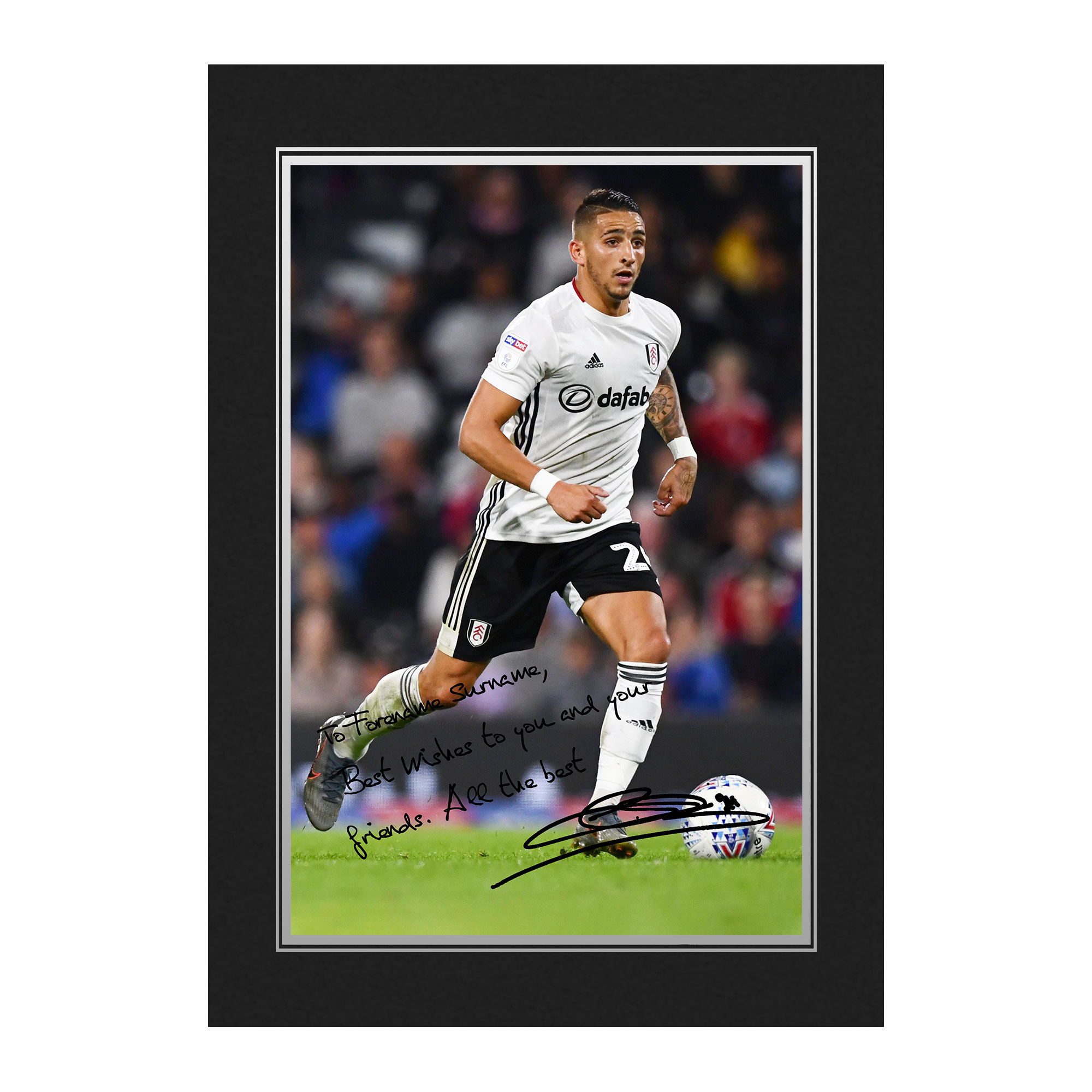 Fulham FC Knockaert Autograph Photo Folder
