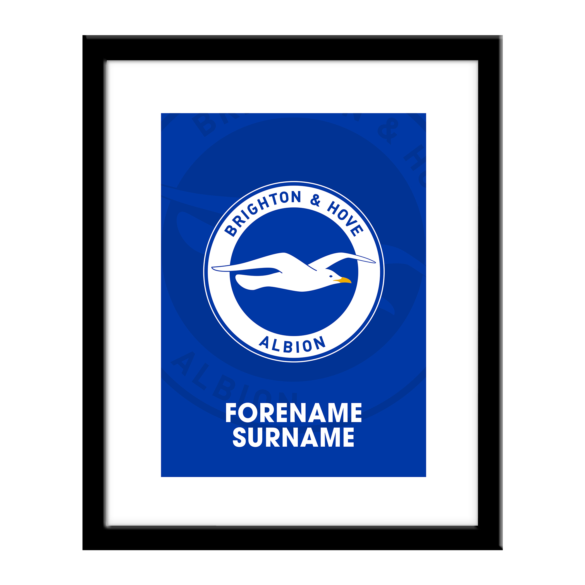Brighton & Hove Albion FC Bold Crest Print