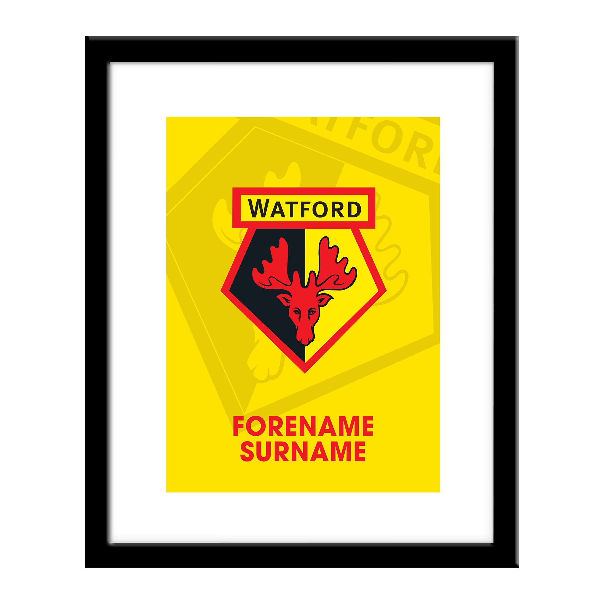 Watford FC Bold Crest Print