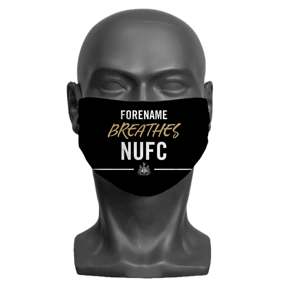 Newcastle United FC Breathes Adult Face Mask (Large)