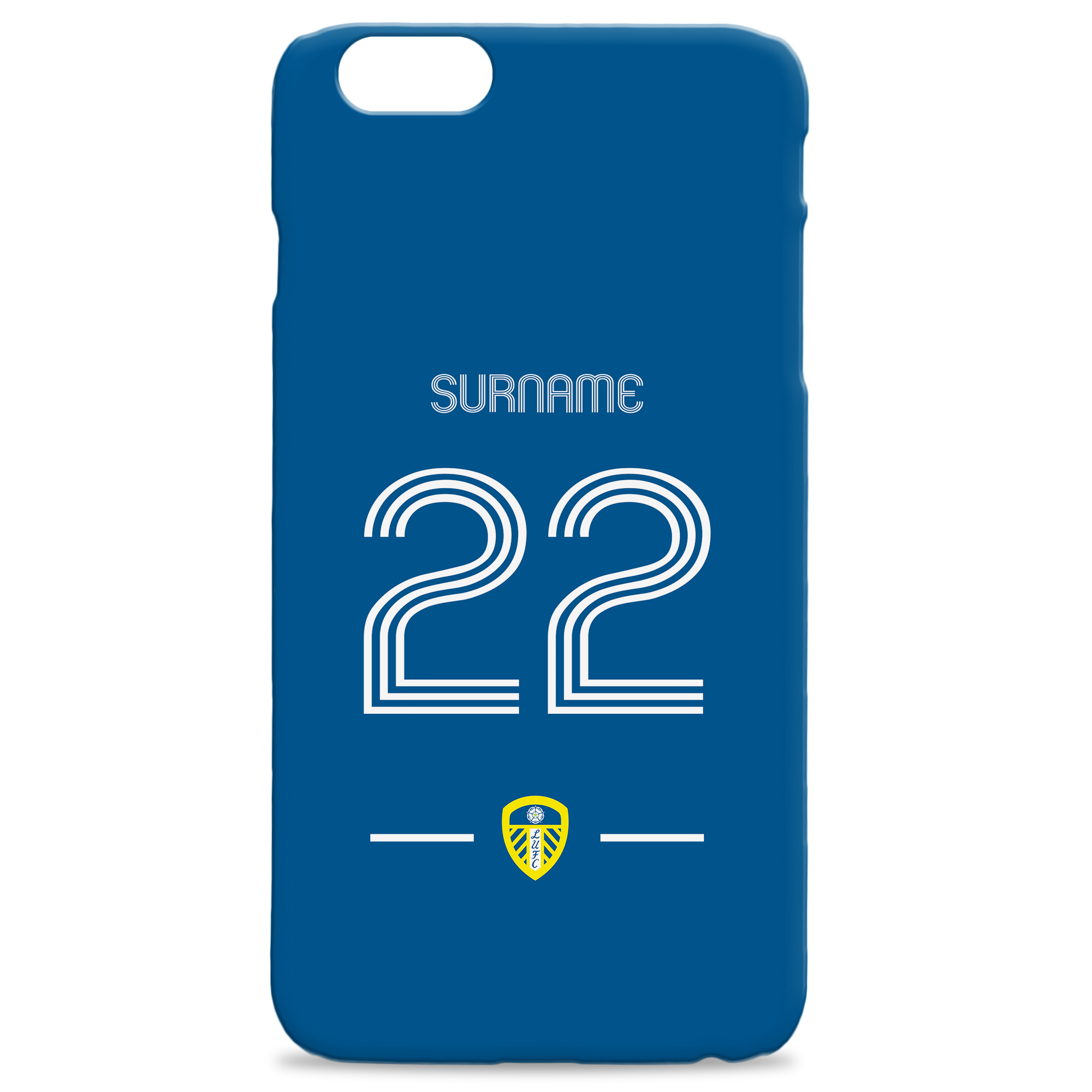 Leeds United Retro Shirt Hard Back Phone Case