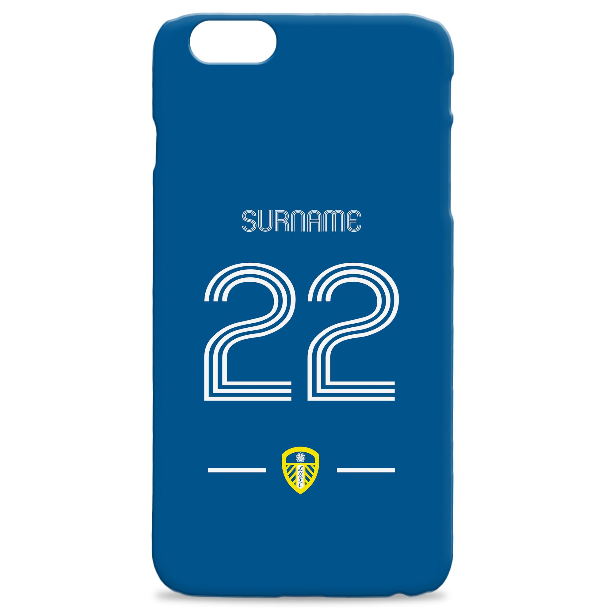 Leeds United Retro Shirt Hard Back Phone Case
