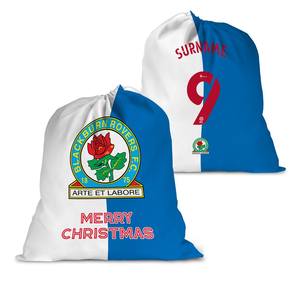 Blackburn Rovers FC Back of Shirt Santa Sack