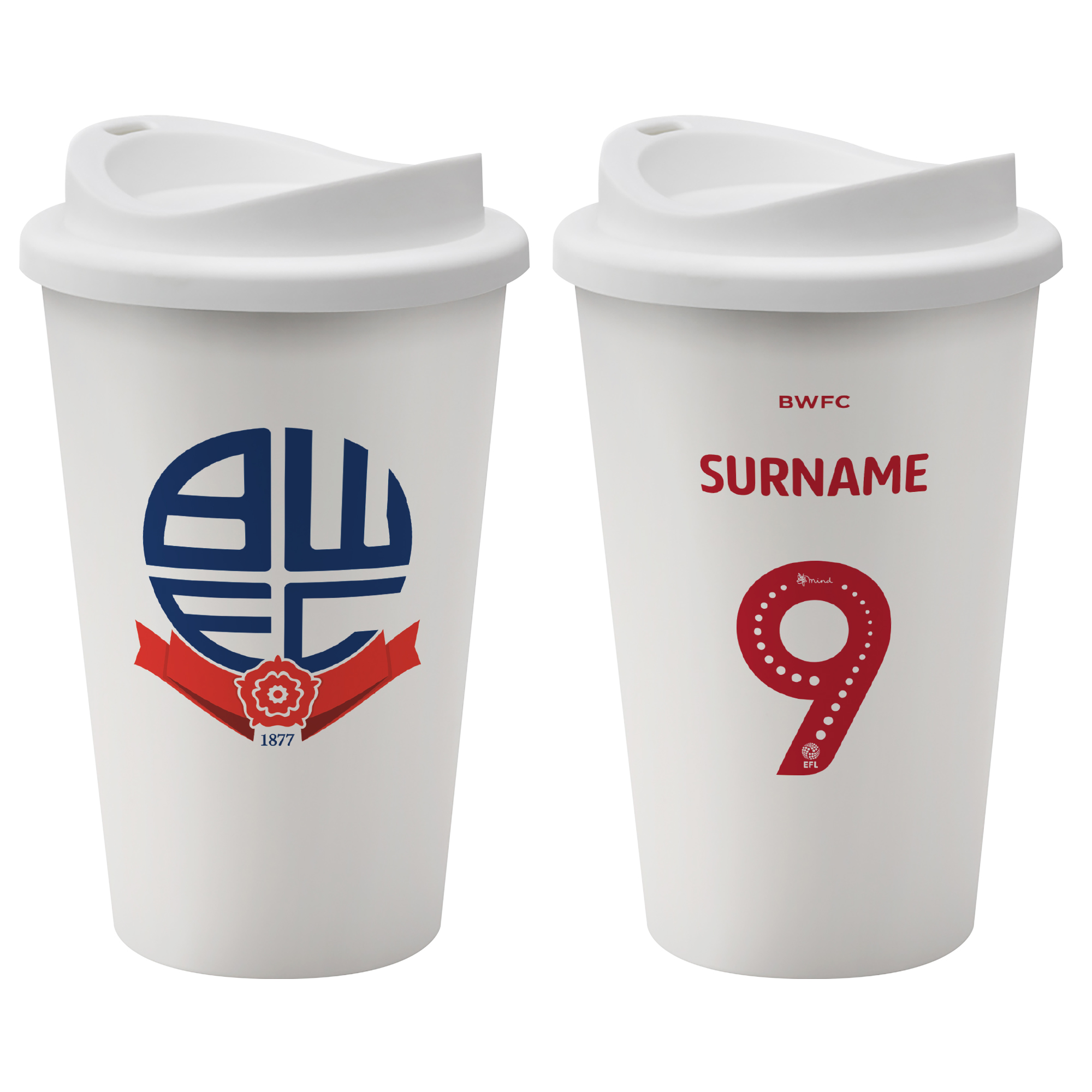 Bolton Wanderers FC Back of Shirt Reusable Cup