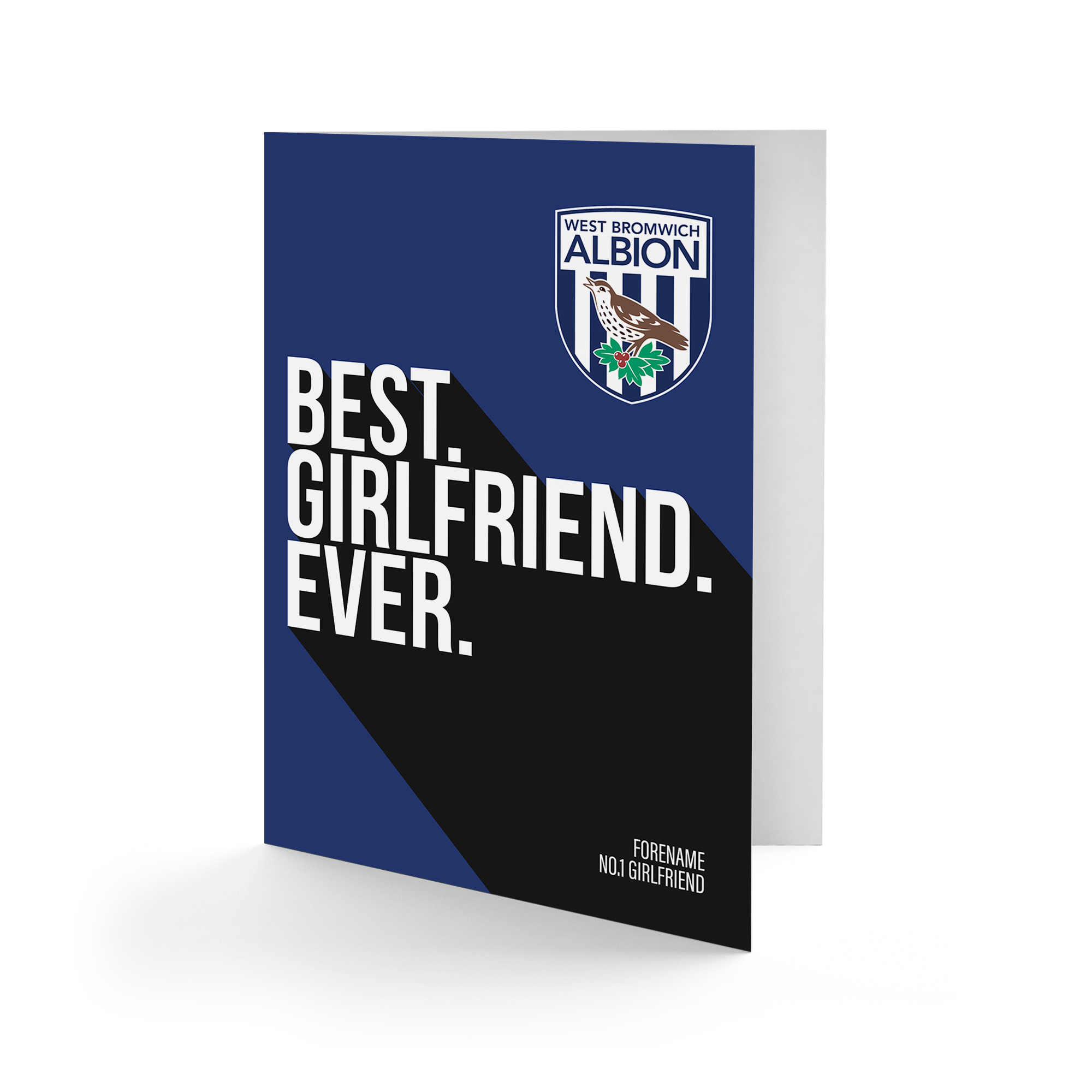 West Bromwich Albion FC Best Girlfriend Ever Card