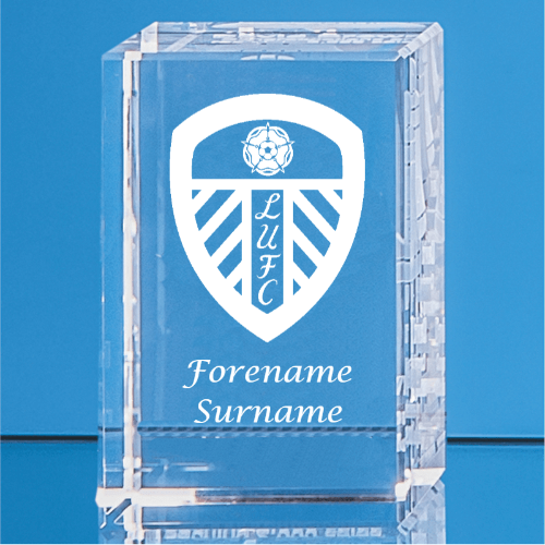 Leeds United FC Crystal Rectangle