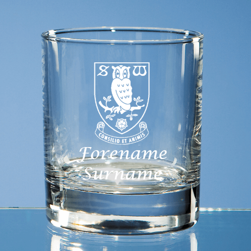 Sheffield Wednesday FC Crest Old Fashioned Whisky Tumbler