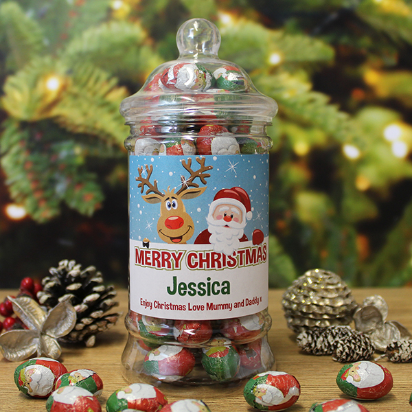 Christmas Chocolates Jar