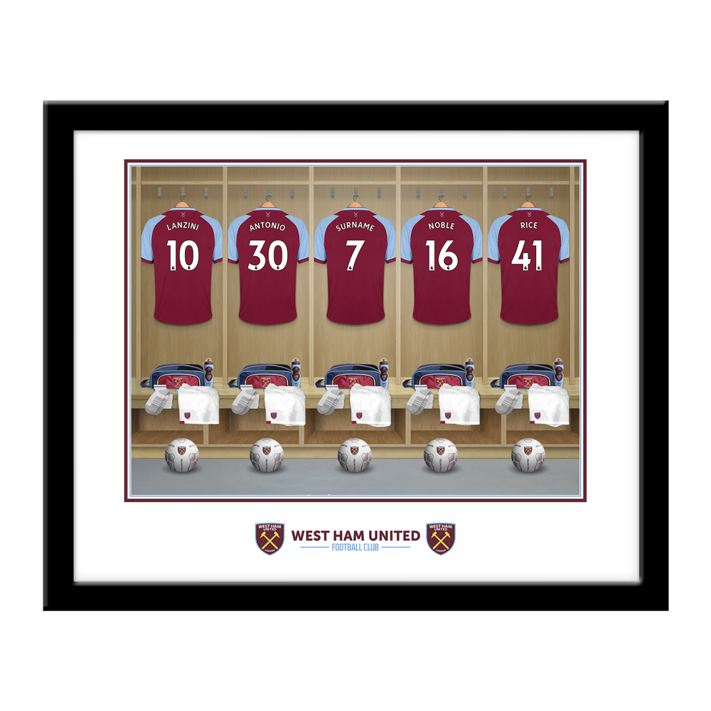 West Ham United FC Dressing Room Framed Print