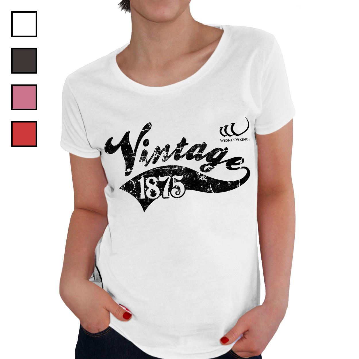 Widnes Vikings Ladies Vintage T-Shirt