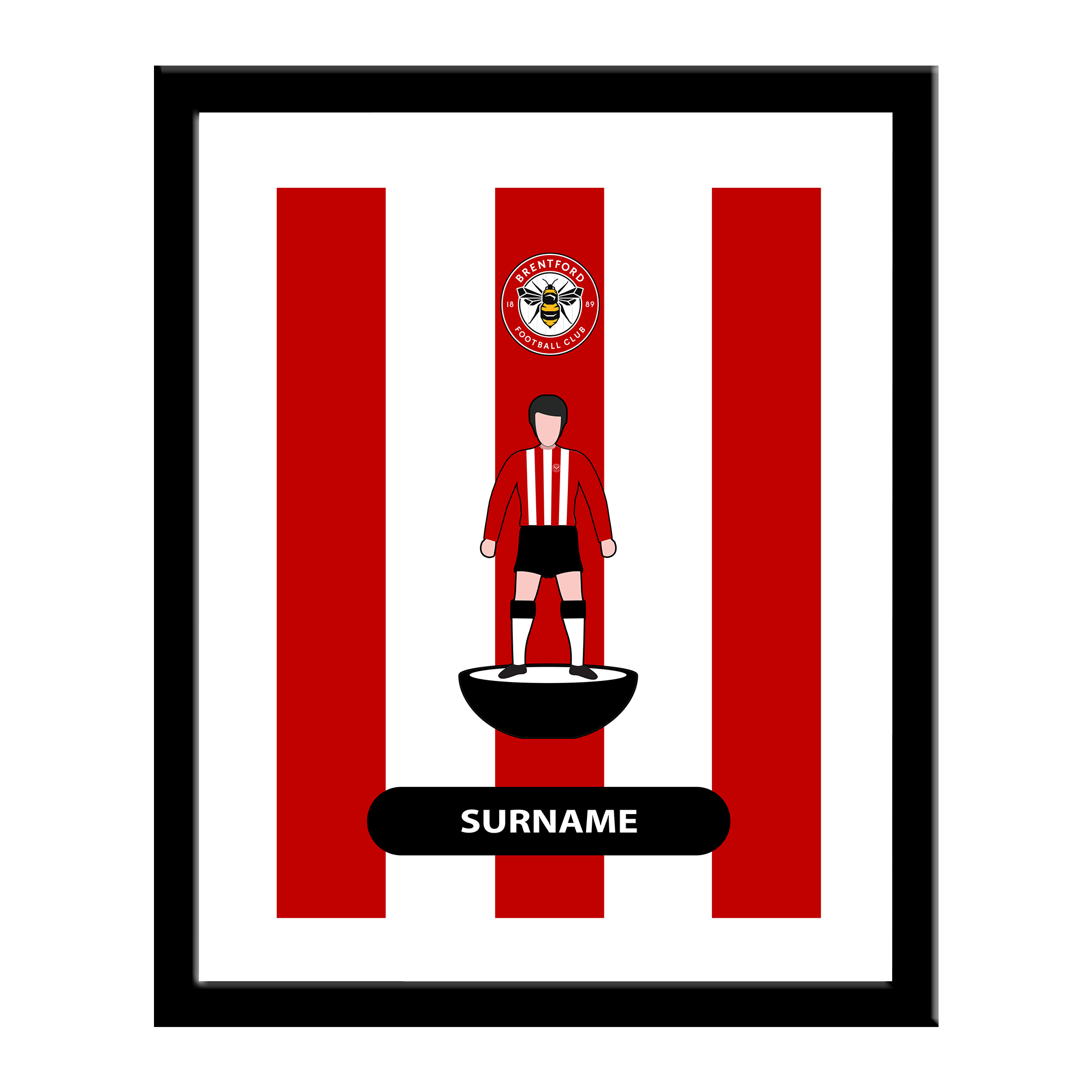 Brentford Player Figure Print