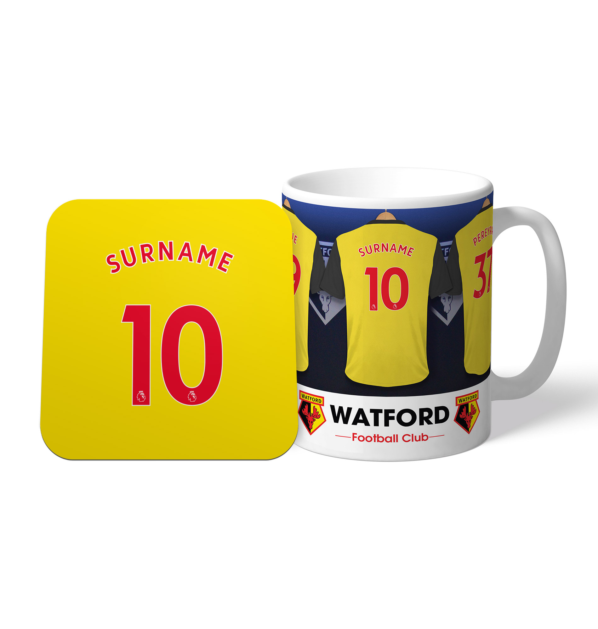 Watford FC Dressing Room Mug & Coaster Set