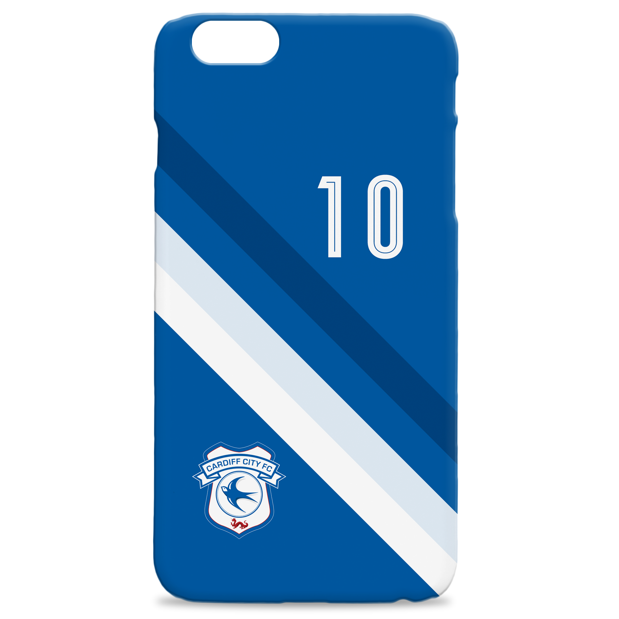 Cardiff City Stripe Hard Back Phone Case
